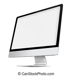 monitor., schermo piatto, moderno, computer