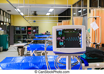 monitor sinais vital, em, hospitalar