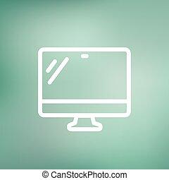 Monitor thin line icon