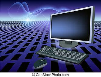 monitor, topo, tastiera