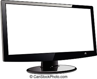 Monitor TV isolated
