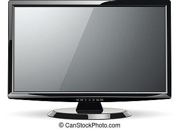 Monitor TV - Monitor, led TV, vector illustration.