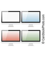 Monitor - vector illustration modern monitor