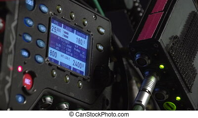 Monitor with a movie camera settings