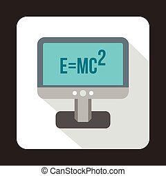 Monitor with the Theory of Relativity formula icon