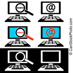 monitores computador, ícones