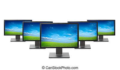 monitores de la computadora, aislado