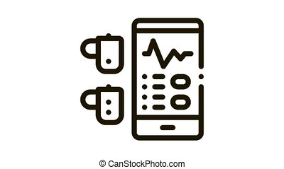 Monitoring Device Hearing Icon Animation. black Monitoring Device Hearing animated icon on white background
