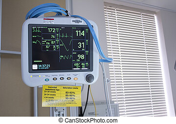 EKG monitoring in an operating room