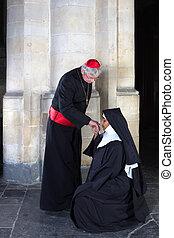 monja, Besar, anillo,  cardinal