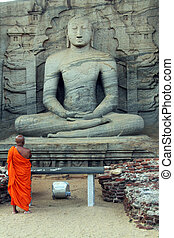 Monk and Buddha