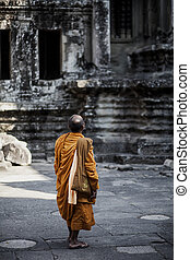 Monk in a Cambodia