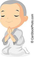 Monk Praying - Little Monk Praying