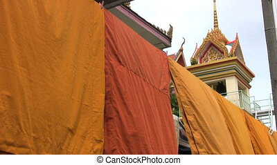 Monk Robes At The Temple