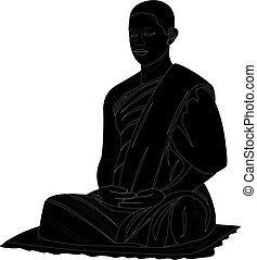 monk shape vector design