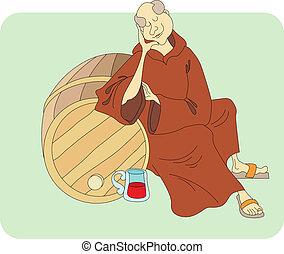 monk sleeps