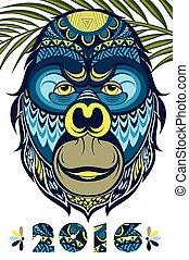 monkey., έτος