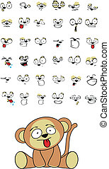 monkey baby cute sitting cartoon se