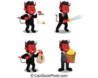 monkey business evil cartoon set