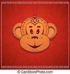 Monkey cartoon as symbol for year 2016 - Monkey cartoon as...
