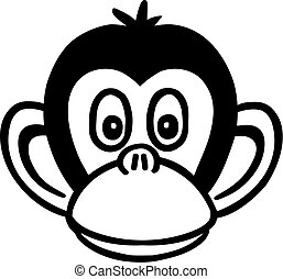 Monkey cartoon head