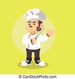 monkey chef illustration design