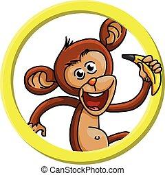 Monkey circle banner