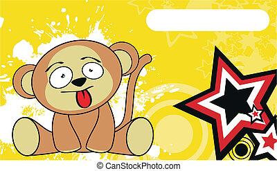 monkey cute cartoon baby wallpaper