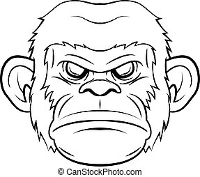 Monkey face design illustration