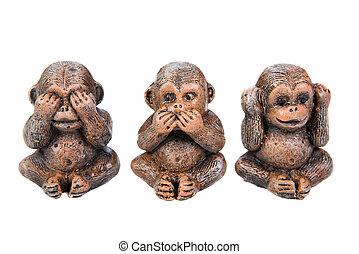 monkey figure on white background