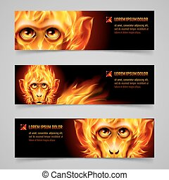 Monkey Fire Banners