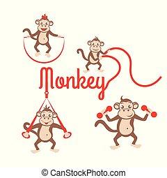 Monkey fitness logo