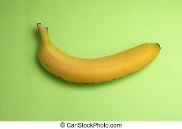 Monkey food - good for eating - One Bannana on green...