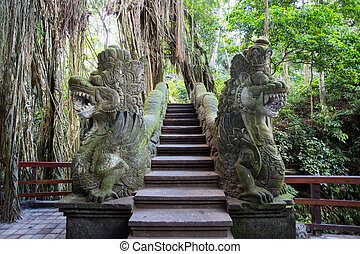 Monkey Forest Bridge - Dragon Bridge in Monkey Forest ...