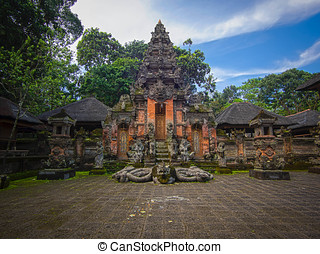Monkey Forest Temple in Ubud, Bali - Hindu Temple at the...