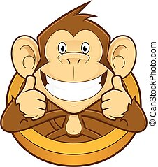 Monkey giving two thumbs up - Clipart picture of a monkey...
