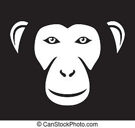 monkey head (ape head, monkey face)