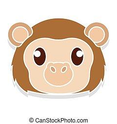 Monkey head cartoon