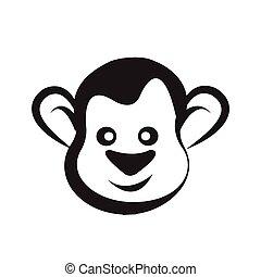Monkey head icon vector