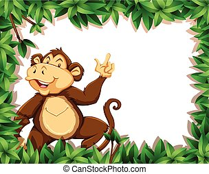 Monkey in nature frame