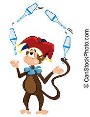 Monkey juggler
