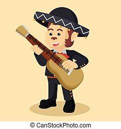 monkey mariachi playing guitar