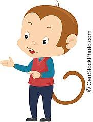 Monkey Mascot Teacher