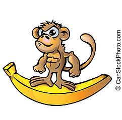 monkey muscle cartoon