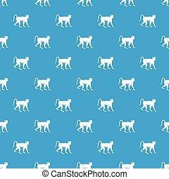 Monkey pattern seamless blue