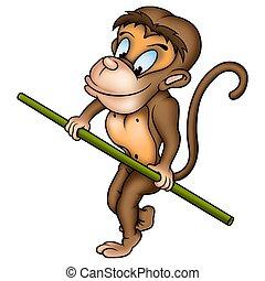 Monkey ropewalker