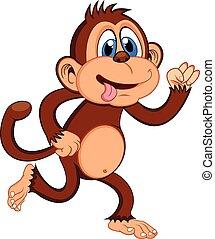 Monkey running Cartoon
