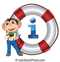 monkey showing float