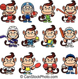 Monkey Sports Set