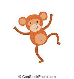 Monkey Stylized Childish Drawing